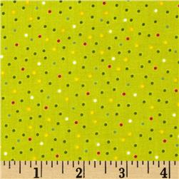 Christmas Pure & Simple Micro Dots Willow Fabric