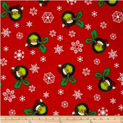 Kaufman How The Grinch Stole Christmas Wreath Red