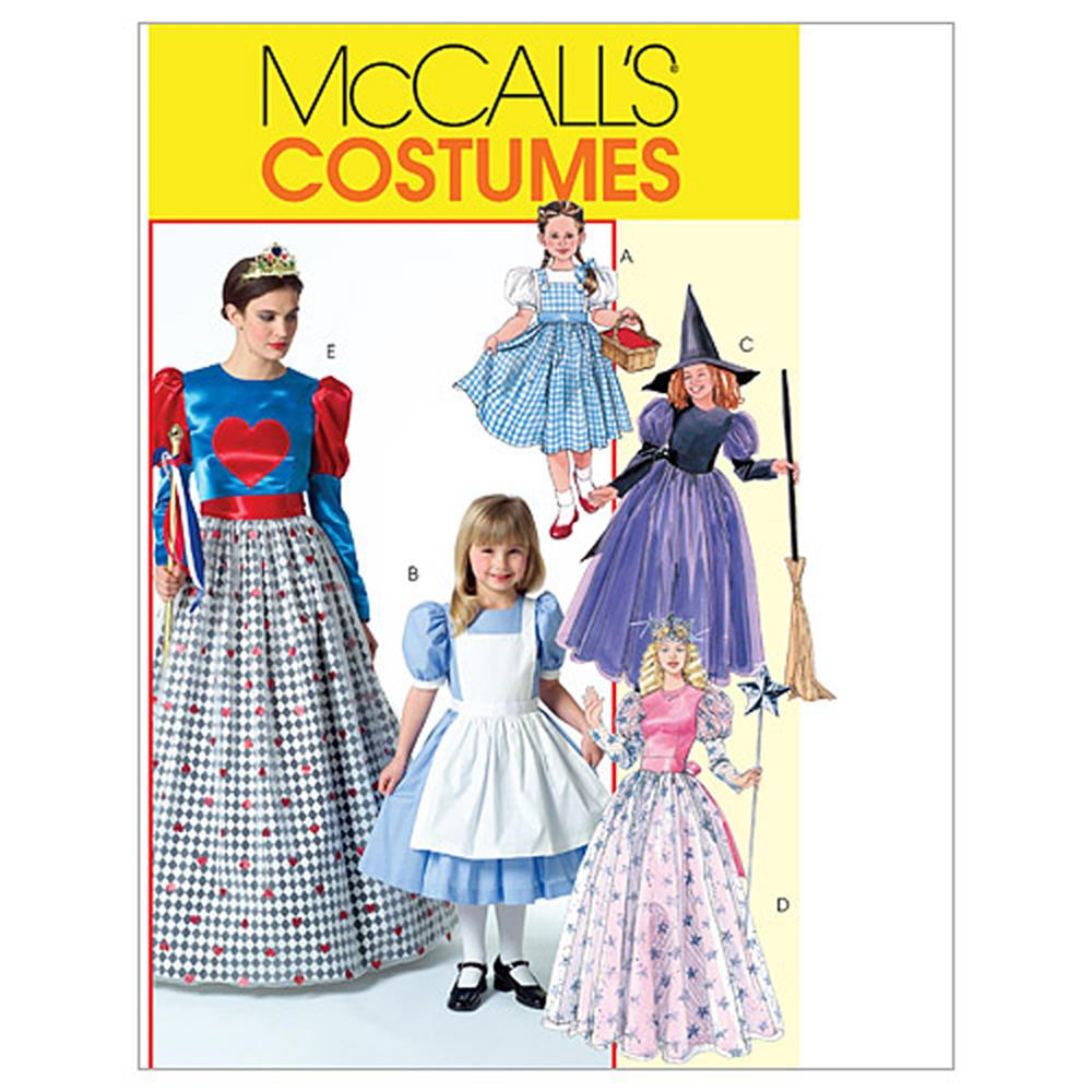 McCall's Misses'/Children's / Girls' Costumes Pattern M4948 Size KID