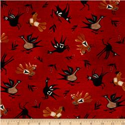 Trading Post Native Birds Red