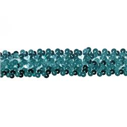 Team Spirit 1.25'' #66 Sequin Trim Aqua