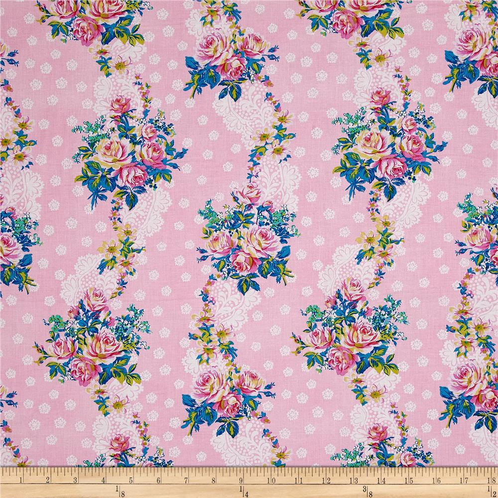 Jennifer paganelli hotel frederiksted krysta pink for Quilting fabric sale