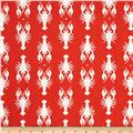 Riley Blake Home Decor Lobster Cream/Red