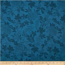 108'' Wide Quilt Back Modern Leaf Federal Blue