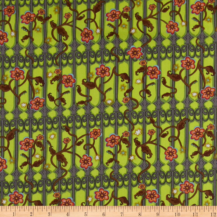 Secret Garden Gateway Green/Brown Fabric