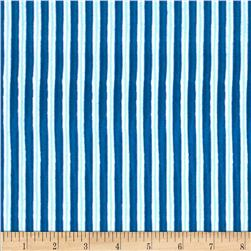 Winter Magic Flannel Stripe Royal Blue