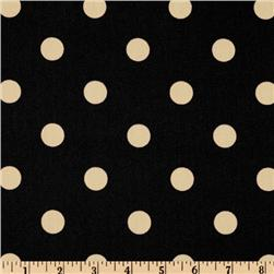 Premier Prints Indoor/Outdoor Polka Dot Ebony Fabric