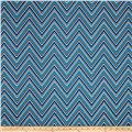 Madison Home Decor Chevron Blue