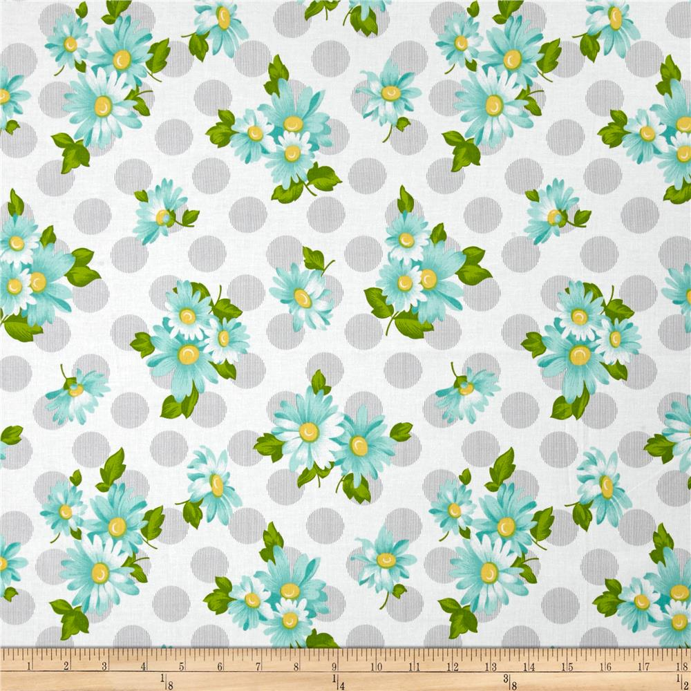 Moda Sew & Sew Doopsy Daisy Cloudy Sky Fabric By The Yard