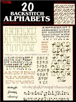 Leisure Arts 20 Backstitch Alphabets Mini Series #2 Booklet