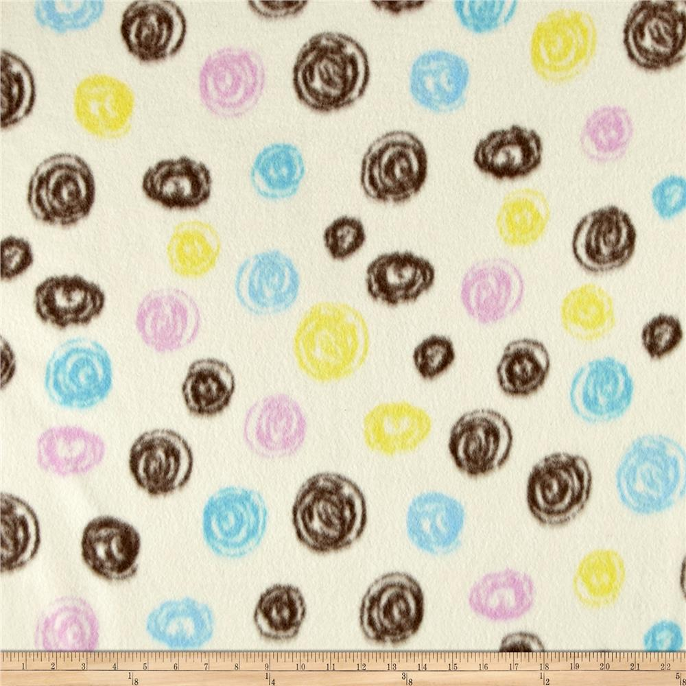 Fleece Print Abstract Dots Fabric By The Yard