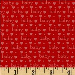 Bundle of Joy Baby Love Red