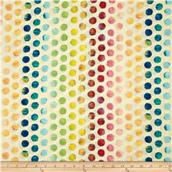 Michael Miller Edges Ombre Circle Ivory/Multi Fabric