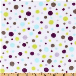 Kaufman Minky Cuddle Dot Salt Water/Violet