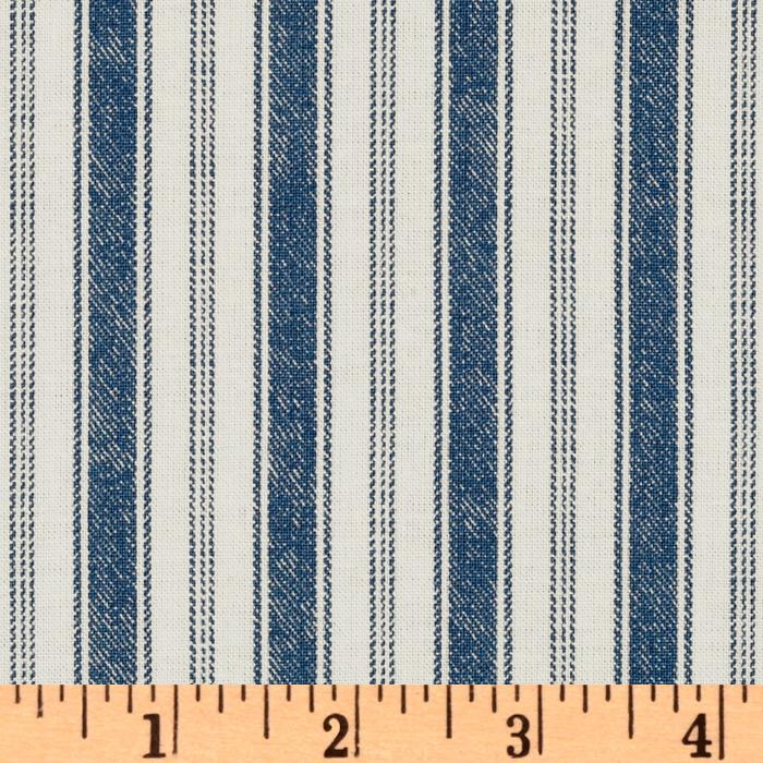 Michael Miller Indigo Red Rail Stripe Indigo