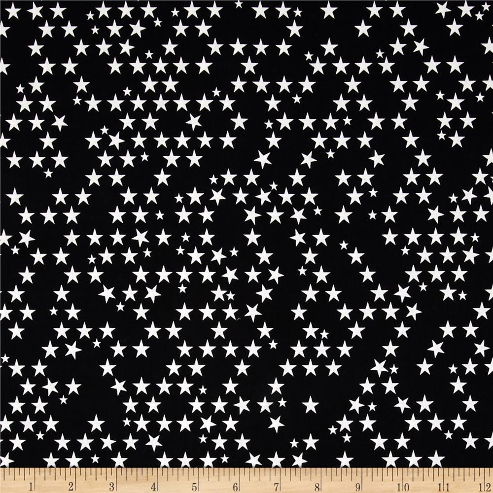 Riley Blake Halloween Magic Glow in the Dark Stars Black