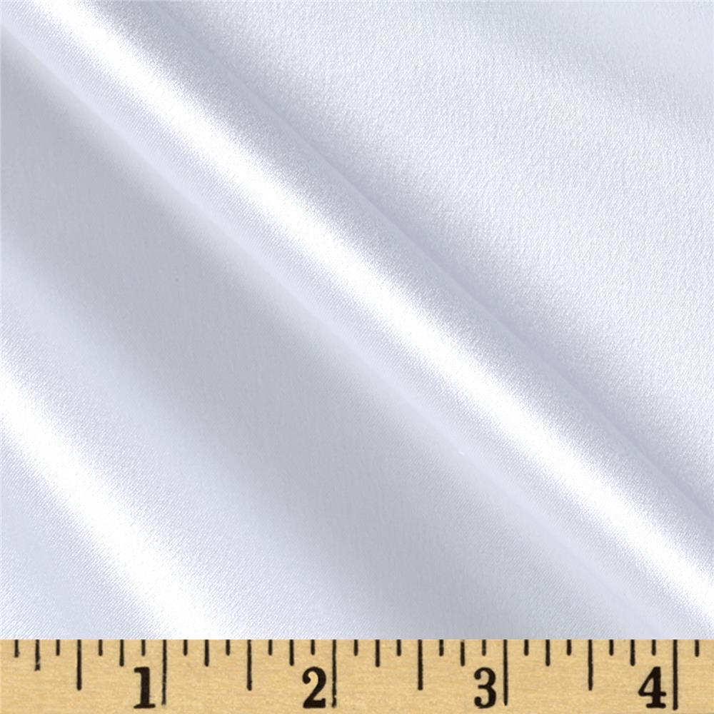 100% Silk Charmeuse White