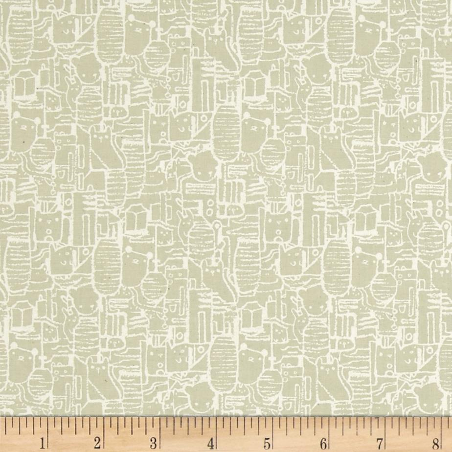 Cotton steel tokyo train ride shibuya taupe discount for Train print fabric