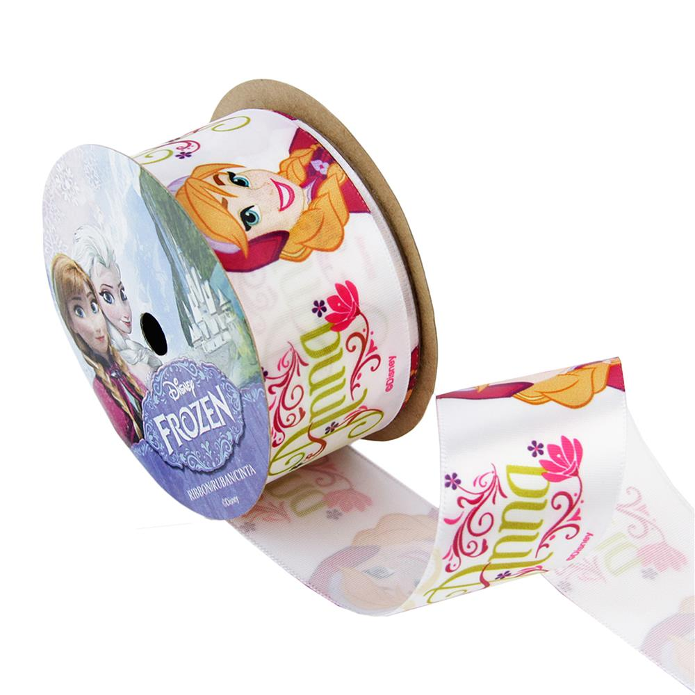 1 1/2'' Frozen Ribbon Anna White 3YD Spool