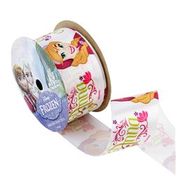 "1 1/2"" Frozen Ribbon Anna White 3YD Spool"