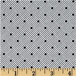 Morocco Blues Stretch Cotton Shirting Dot Print White/Black