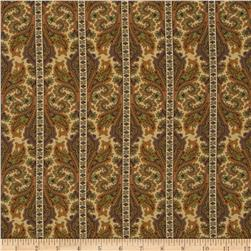 Providence Striped Damask Floral Beige