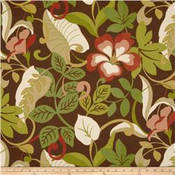Tempo Indoor/Outdoor Floral Leaf Brown/Cinnamon