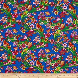 Newcastle Novelties Garden Blue Fabric