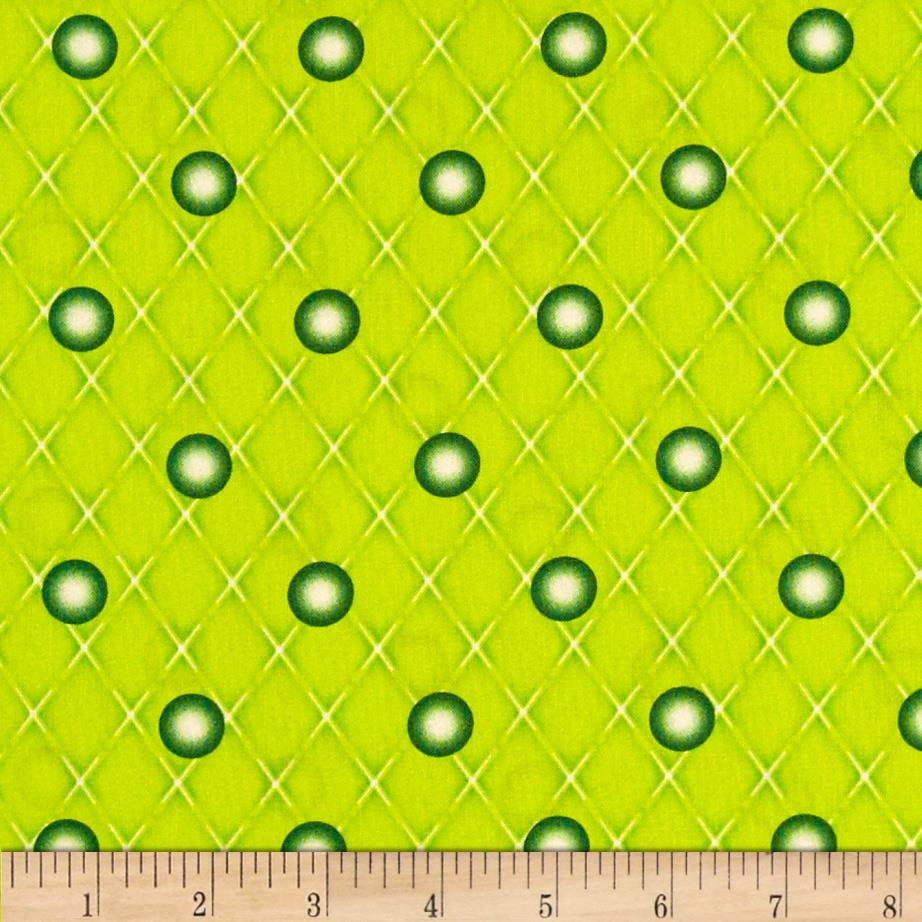 Naughty Or Nice Snowball Dot Light Green