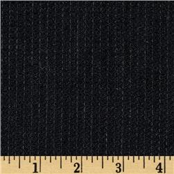 Basketweave Pure Linen Black