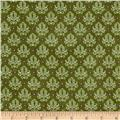 Birds of a Feathers Dream Damask Green