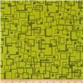 Hannah Abstract Squares Green/Lime