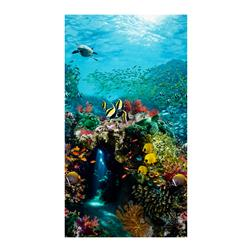 Beneath The Waves Single Border Digital Print Ocean Scenic Ocean
