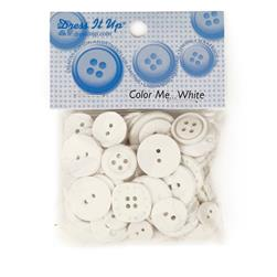Dress It Up Color Me Collection Buttons White