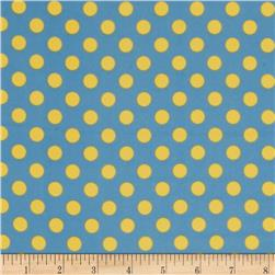 Kimberbell Little One Flannel Too! Flannel Dots Blue Yellow