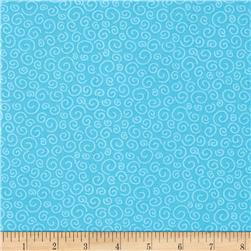 Polka Dot Pond Squiggles Turquoise