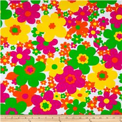 Pop Floral Fun Floral Activewear Rainbow