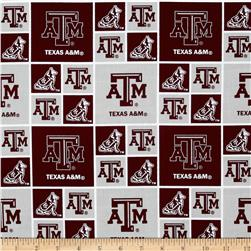 Collegiate Cotton Broadcloth Texas A&M University Burgundy Fabric