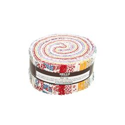 Robert Kaufman Pretty Posies 2.5  In. Jelly Roll Multi