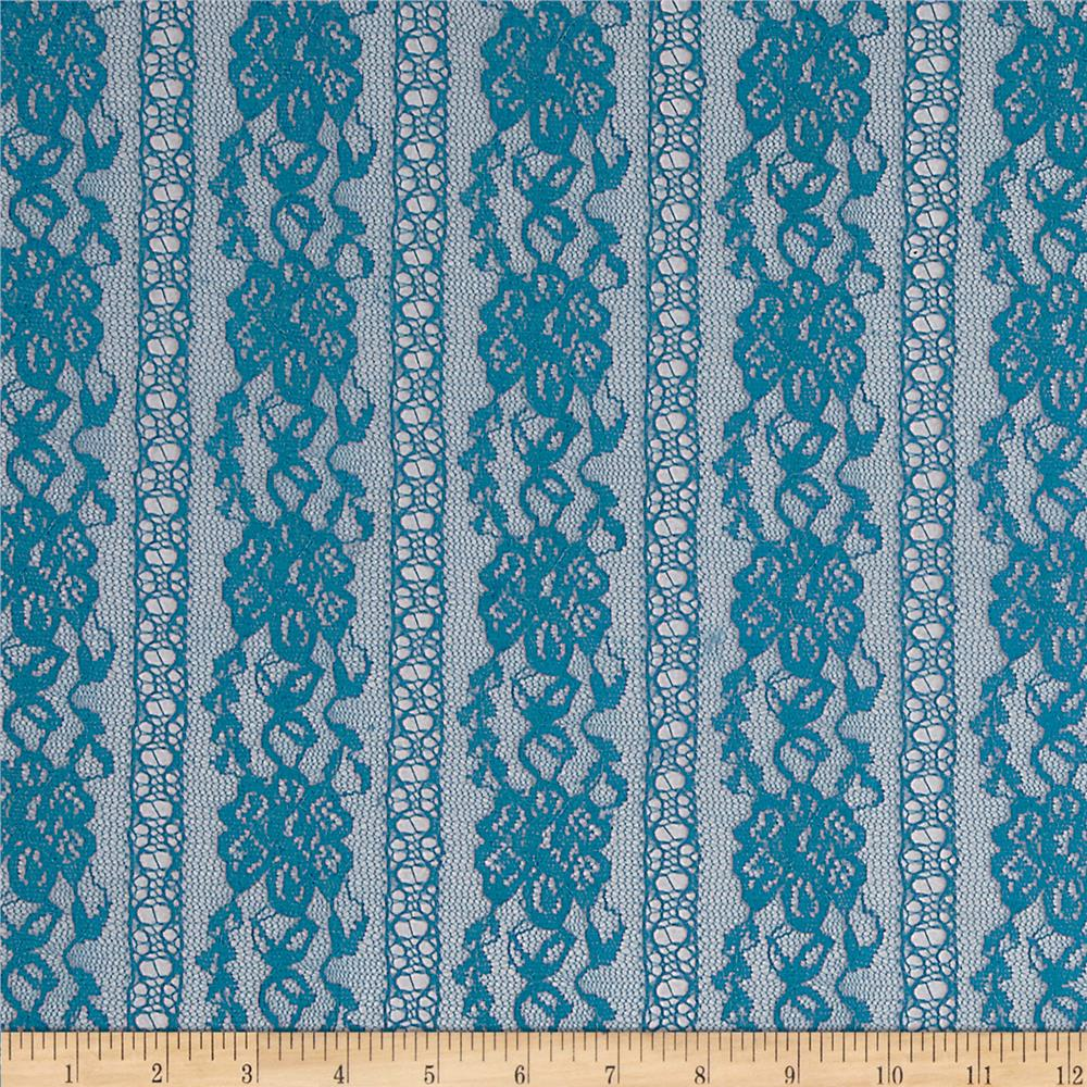 Stretch Fashion Lace Dark Teal