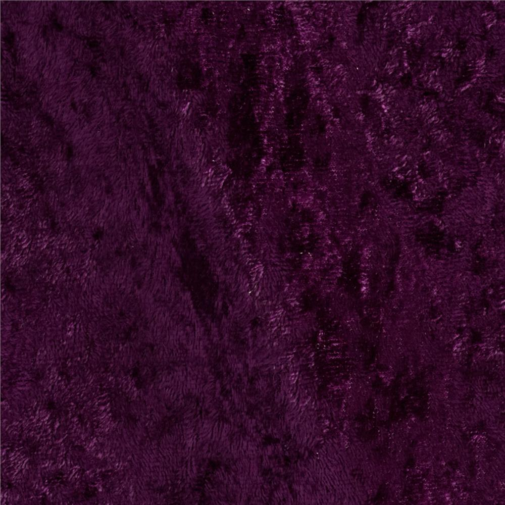 Stretch Panne Velvet Plum