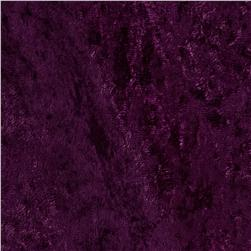 Stretch Panne Velvet Velour Plum