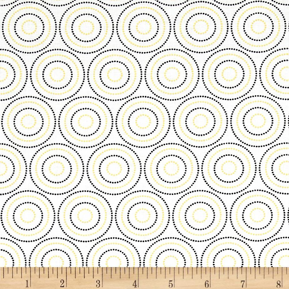 Mellow Yellow Medium Circles White