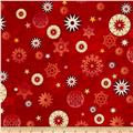 Love & Peace Star Medallions Red