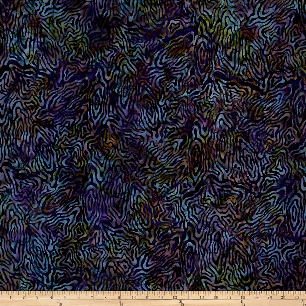 Wilmington Batik Rippled Reflections Purple/Green