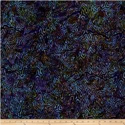 Batavian Batik Rippled Reflections Purple/Green