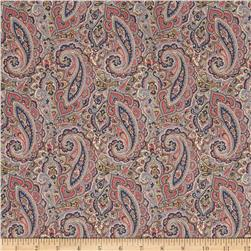 Liberty of London Classic Tana Lawn Tessa Paisley Light Gray/Royal/Beige