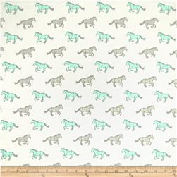 Premier Prints Mustangs Twill Mint