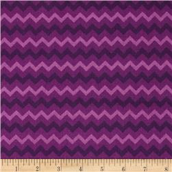 Chevron Tonal Purple Fabric