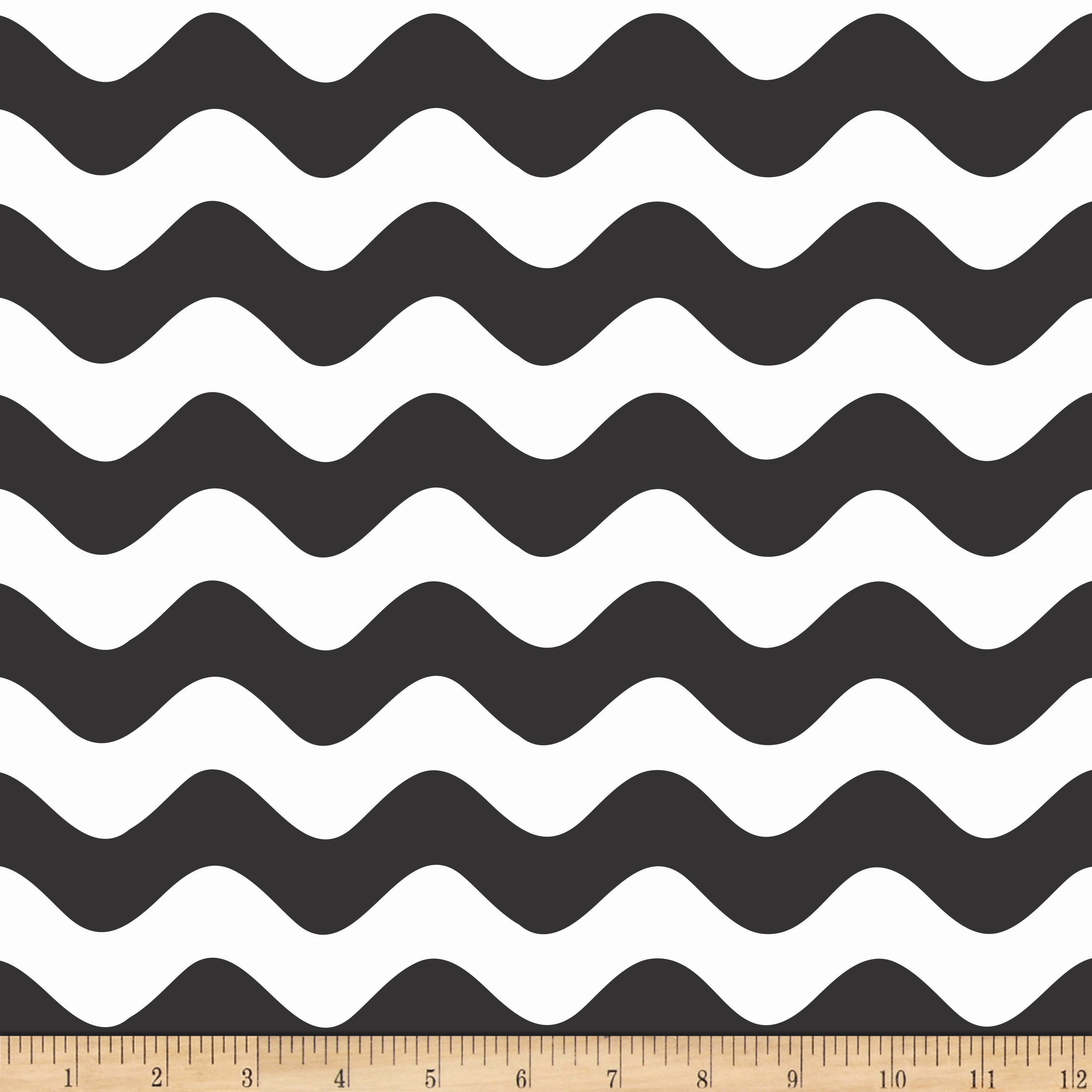 Riley Blake Wave Black Fabric